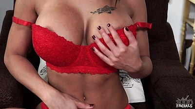 Friendly bras and panties Peta Jensen gets naked and pov cock sucking