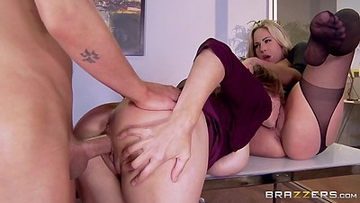 Half dressed office threse from eating vagina milfs Olivia Austin and Julia Ann