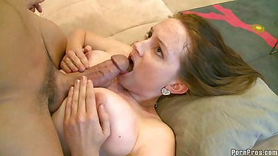 Titty fuck ended with a nice tit and facial cumshot