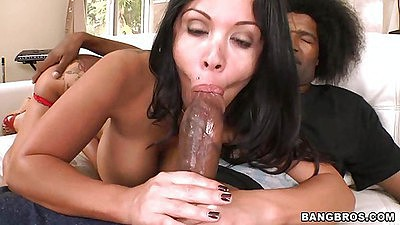 Real big dick getting sucked hard by Sienna West