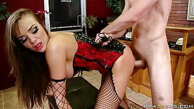 Nika fucked doggy style and facial mouthful cumshot
