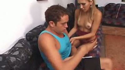 Tranny Jackeline sucking dude off