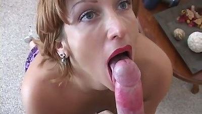 Pov blowjob from Violet with a close up
