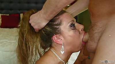 Milf rough sex with cock all the way down her throat Rachel Roxxx
