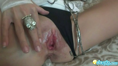 Grooly pussy milf pulls panties to the side and then does a great sucking