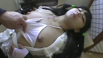Tight body exposed asian girl gets strange fetish done to her