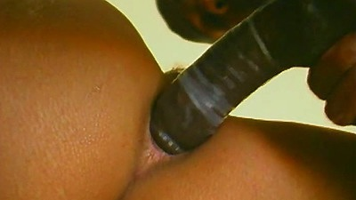 Close up anal black girl sex with double penetration Frankie La Rue