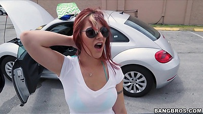Public Alessa Snow pickup after her car broke down
