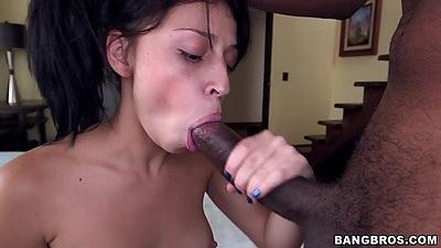 Yenny Contreras large black cock sucking and petite latina penetration