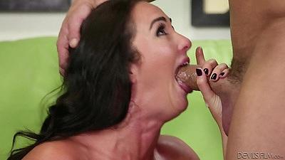 Deep throat from bushy small boobs girl Bianca Breeze