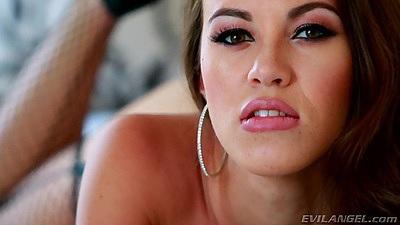 Alluring porn star babe Tiffany Doll sucks cock and a dildo in pov
