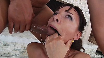 Rough sex deep throat and mouth spreading with sloppy sucking Dana DeArmond